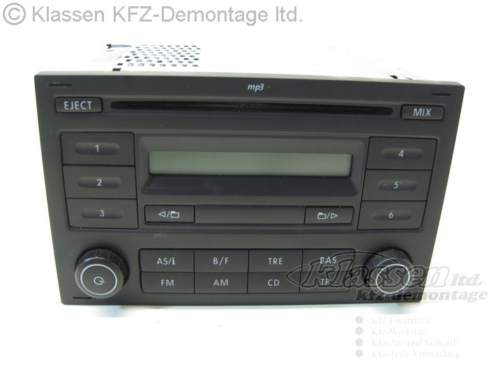 cd player radio mp3 vw polo 9n 6q0035152e ebay. Black Bedroom Furniture Sets. Home Design Ideas