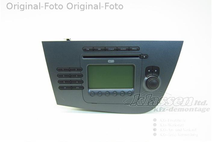 radio cd player seat leon 1p1 1p1035186b cd. Black Bedroom Furniture Sets. Home Design Ideas