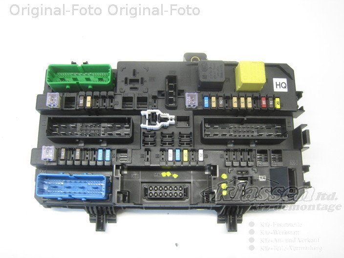 Fuse box on opel zafira