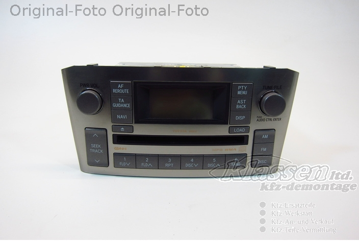 radio cd player navi navigation toyota avensis t25 86120 05130. Black Bedroom Furniture Sets. Home Design Ideas