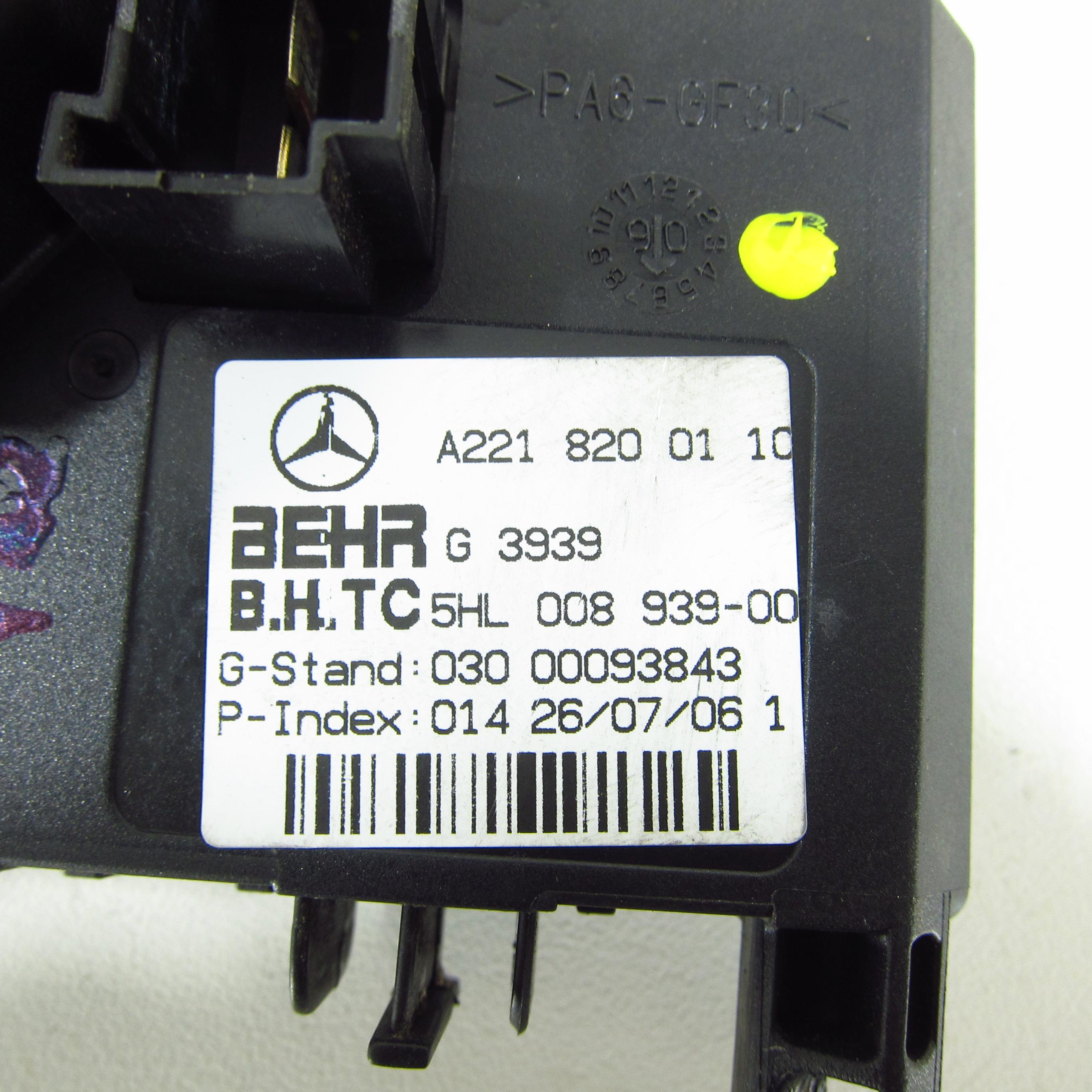 Gebläseregler Mercedes Benz S-Klasse W221 Gebläse Widerstand ...